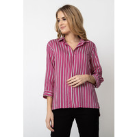 Quiosque Różowa koszula w pionowe pasy 2HL005524
