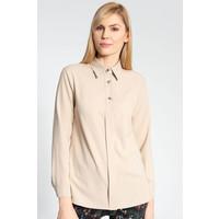 Quiosque Beżowa koszula z ozdobnymi guzikami 2JX002102