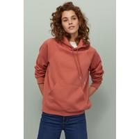 H&M Bluza z kapturem 0456163030 Rdzawopomarańczowy