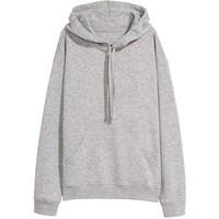 H&M Bluza z kapturem 0456163030 Szary melanż