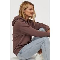 H&M Bluza z kapturem 0456163030 Ciemny śliwkowofioletowy