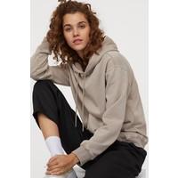 H&M Bluza z kapturem 0456163030 Szarobeżowy