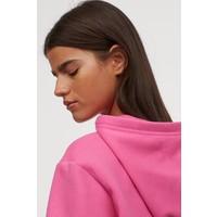 H&M Bluza z kapturem 0715624040 Neonoworóżowy