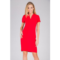 Quiosque Lekko taliowana czerwona sukienka 4CR326601