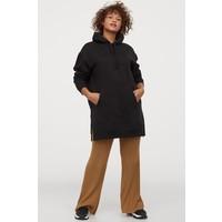H&M Bluza oversize z kapturem 0866387010 Czarny