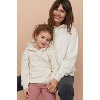 H&M Bluza z kapturem i motywem 0762471007 Biały/Myszka Miki