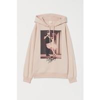 H&M Bluza z kapturem i motywem 0762471001 Jasnoróżowy/Dirty Dancing