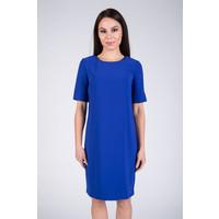 Quiosque Niebieska sukienka z rozciętymi rękawami 4CT560801