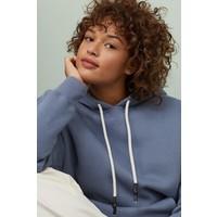 H&M Bluza oversize z kapturem 0761222004 Niebieskoszary