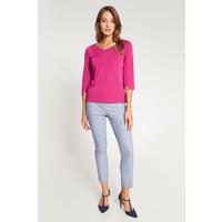 Quiosque Różowa bluzka z asymetrycznymi rękawami 1IE008503