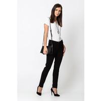 Quiosque Czarne spodnie z regularnym stanem 3HF001299