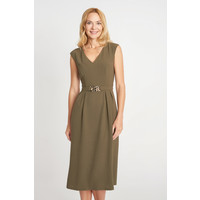 Quiosque Sukienka khaki z paskiem w talii 4IX005904