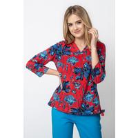 Quiosque Czerwona bluzka w duże niebieskie kwiaty 2HO002610