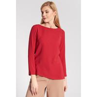 Quiosque Czerwona prosta bluzka z długim rękawem 2IR003601