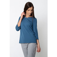 Quiosque Niebieska bluzka z perłami na dekolcie 1HS010801