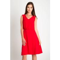 Quiosque Czerwona rozkloszowana sukienka 4GG012601