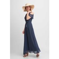 Quiosque Granatowa sukienka maxi w grochy 4HN008822