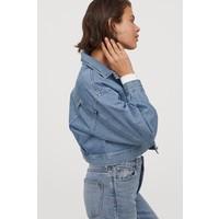 H&M Pudełkowa kurtka dżinsowa 0867351001 Niebieski denim
