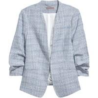 H&M H&M+ Marynarka 0588245002 Niebieski melanż