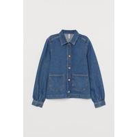 H&M Kurtka koszulowa z denimu 0840302001 Niebieski denim