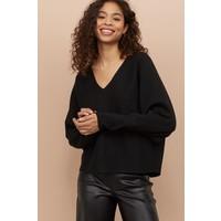 H&M Sweter z kimonowym rękawem 0794538001 Czarny