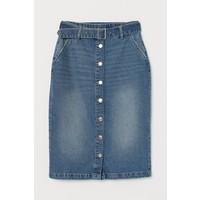 H&M Dżinsowa spódnica z paskiem 0778517002 Niebieski denim