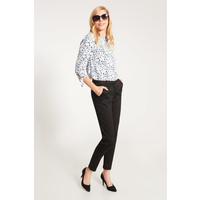 Quiosque Czarne eleganckie spodnie ze zwężaną nogawką 3GP002299