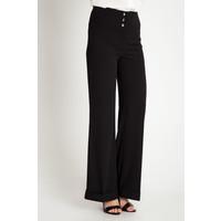 Quiosque Czarne spodnie z wysokim stanem i szeroką nogawką 36B897299