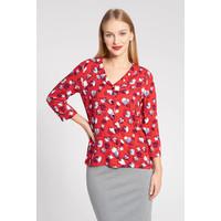 Quiosque Czerwona koszulowa bluzka w łatki 2IR004651