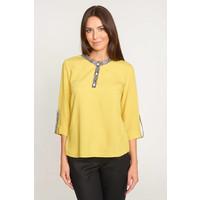 Quiosque Żółta bluzka z wstawkami z panterką 2IL006902