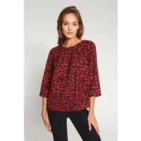 Quiosque Czerwona bluzka oversize w panterkę 2IH005651