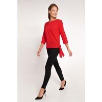 Quiosque Czerwona bluzka z wiązaniem i rękawem 3/4 2ID005601