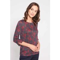 Quiosque Bluzka z czerwonym kwiatowym wzorem 1IO006611