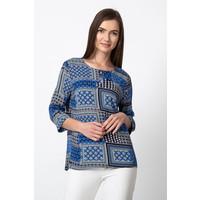 Quiosque Niebieska bluzka w geometryczny wzór 2HE006821