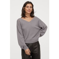 H&M Kaszmirowy sweter 0832834001 Szary