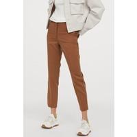 H&M Spodnie cygaretki z lyocellem 0861767002 Brązowy