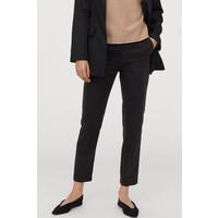 H&M Spodnie cygaretki z lyocellem 0861767002 Czarny
