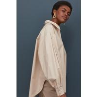 H&M Popelinowa koszula 0843752001 Beżowy
