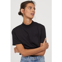 H&M T-shirt z półgolfem 0793856005 Czarny