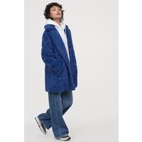 H&M Kurtka z imitacji futra 0782562001 Niebieski