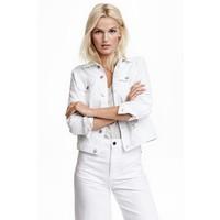 H&M Kurtka dżinsowa 0399061018 Biały