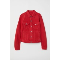 H&M Kurtka dżinsowa 0399061003 Czerwony