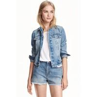 H&M Kurtka dżinsowa 0399061018 Niebieski denim