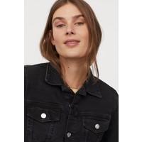 H&M Kurtka dżinsowa 0399061018 Czarny/Sprany