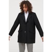 H&M Krótki płaszcz 0861660001 Czarny