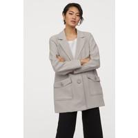 H&M Krótki płaszcz 0861660001 Szarobeżowy