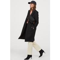 H&M Prosty płaszcz 0852513006 Czarny