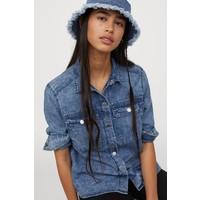 H&M Koszula dżinsowa 0854573001 Niebieski denim/Sprany