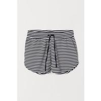H&M Szorty dresowe 0396135018 Granatowy/Białe paski