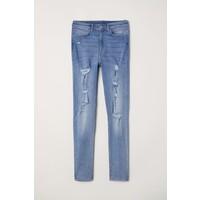 H&M Super Skinny High Jeans 0621381020 Niebieski denim/Trashed